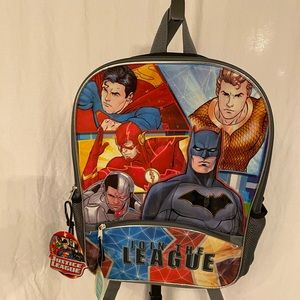 Justice league 16 inch backpack new